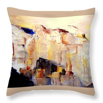 Precipice 1 Austrian Alps Imagined-dedicated  Throw Pillow
