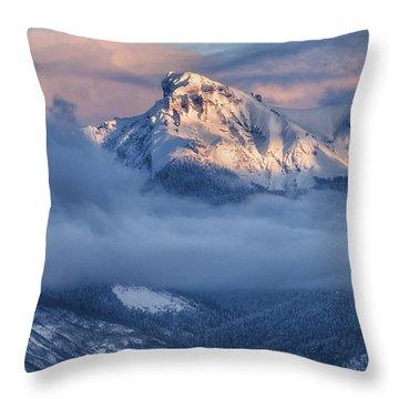 Precipice Smiling Throw Pillow