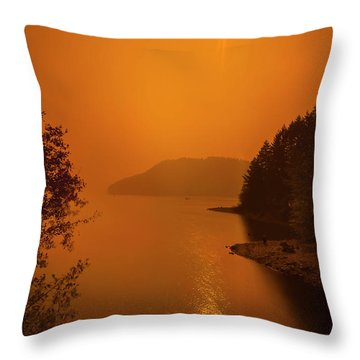 Throw Pillow featuring the photograph Preclipse 8.17 by Dan McGeorge