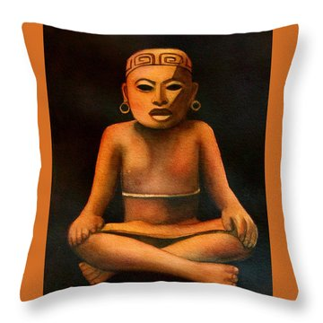 Precolumbian Series #1 Throw Pillow