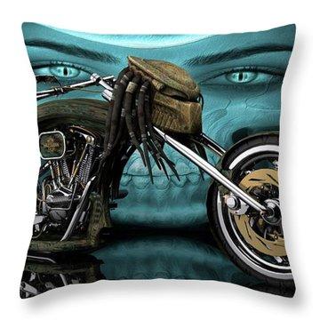 Throw Pillow featuring the digital art Predator Chopper by Louis Ferreira