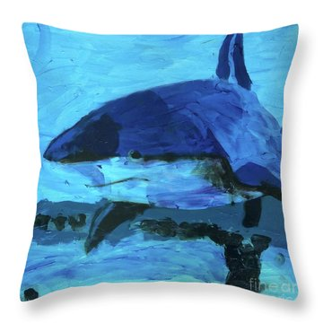 Throw Pillow featuring the painting Predator by Donald J Ryker III
