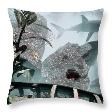 Predator Throw Pillow by Richard Rizzo