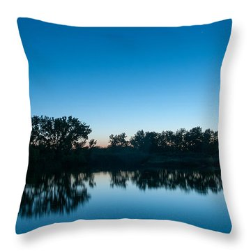 Throw Pillow featuring the photograph Predawn At Arapaho Bend by Monte Stevens