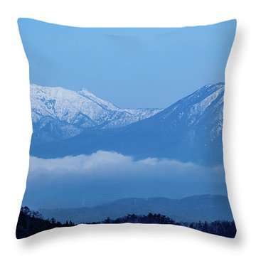 Throw Pillow featuring the photograph Predawn Peaks by Rikk Flohr
