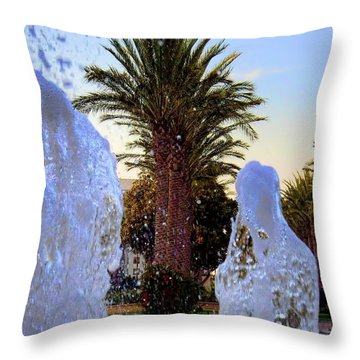 Throw Pillow featuring the photograph Pregnant Water Fairy by Mariola Bitner