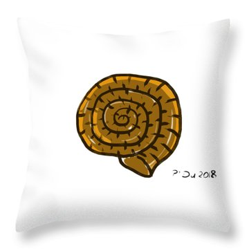 Prehistoric Shell Throw Pillow