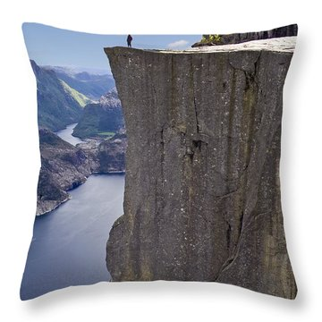 Preikestolen Throw Pillow