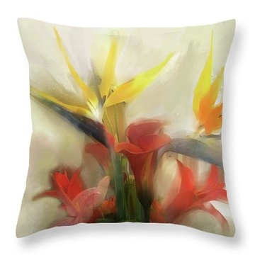 Throw Pillow featuring the digital art Prelude To Autumn by Gina Harrison