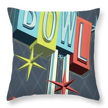 Premiere Lanes Bowling Pop Art Throw Pillow