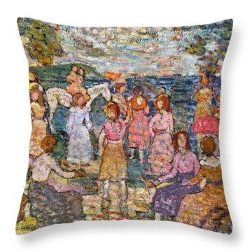 Prendergast: Beach, 1916 Throw Pillow by Granger