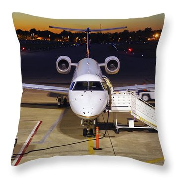 Preparing For Departure Throw Pillow