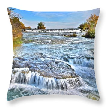 Throw Pillow featuring the photograph Preparing For The Big Fall by Frozen in Time Fine Art Photography