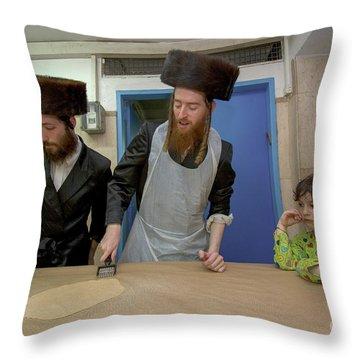Preparing Matzah, Tel Aviv, Israel Throw Pillow