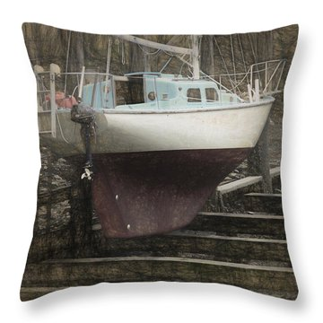 Preparing To Sail Throw Pillow