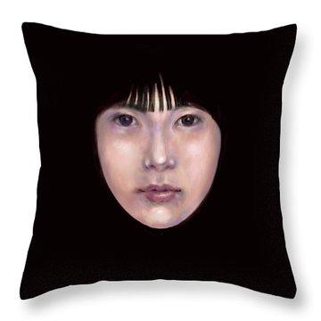 Prescient Moon, Heart Aflame Throw Pillow