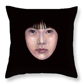 Prescient Moon, Heart Aflame Throw Pillow