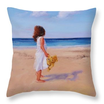 Precious Moment Throw Pillow by Laura Lee Zanghetti