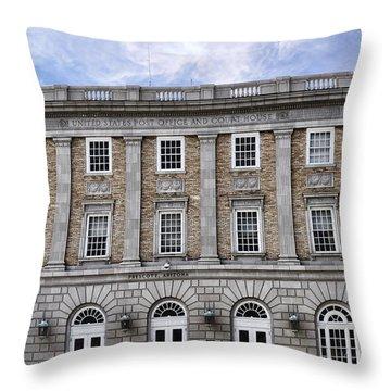 Prescott Court House  Throw Pillow by Saija  Lehtonen