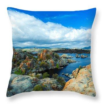 Prescott Rocks Throw Pillow