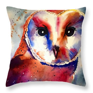 Throw Pillow featuring the painting Present Moment  by Michal Madison