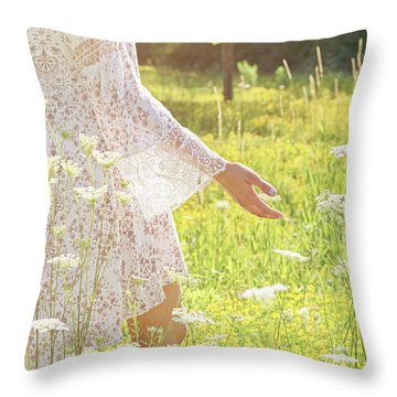 Present Moment.. Throw Pillow