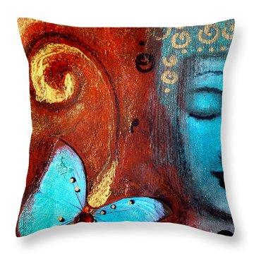 Present Moment Throw Pillow by Tara Catalano