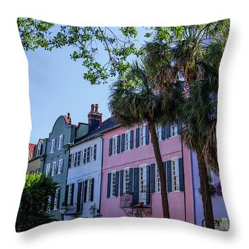 Presenting Rainbow Row  Throw Pillow
