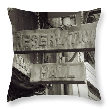 Preservation Hall, French Quarter, New Orleans, Louisiana Throw Pillow