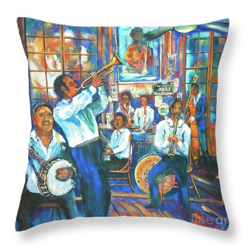 Preservation Jazz Throw Pillow by Dianne Parks
