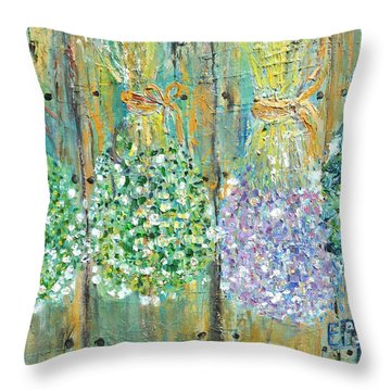 Preserved Herbs Throw Pillow by Evelina Popilian