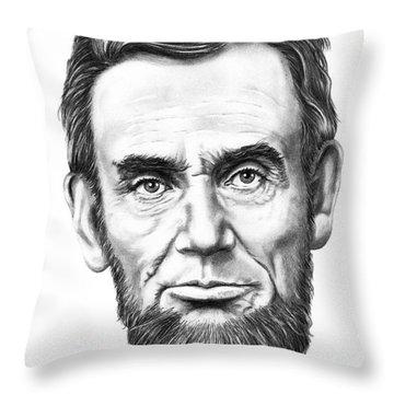 President Abe Lincoln Throw Pillow by Murphy Elliott