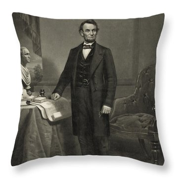President Abraham Lincoln Throw Pillow