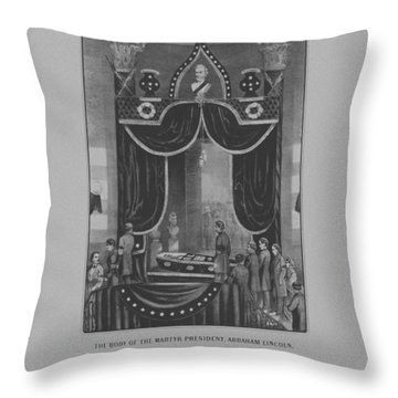 President Abraham Lincoln Lying In State Throw Pillow