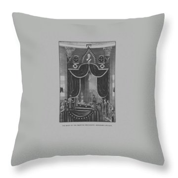 President Abraham Lincoln Lying In State Throw Pillow by War Is Hell Store
