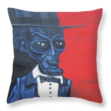 President Alienham Lincoln Throw Pillow