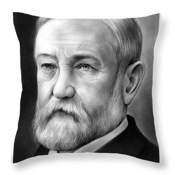 President Benjamin Harrison Throw Pillow