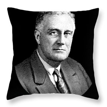President Franklin Roosevelt Graphic Throw Pillow