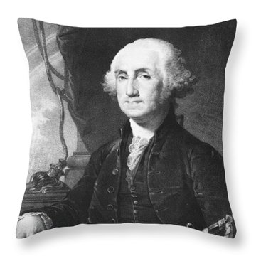 President George Washington Throw Pillow by International  Images
