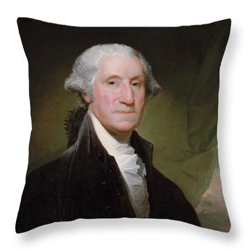 President George Washington Throw Pillow