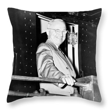 President Harry Truman Throw Pillow by War Is Hell Store