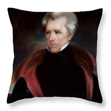 President Jackson Throw Pillow