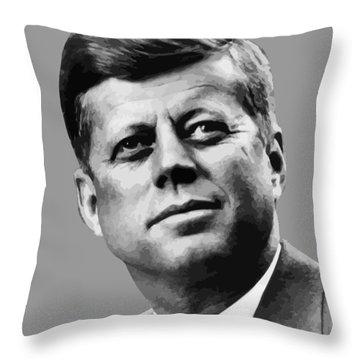 President Kennedy Throw Pillow
