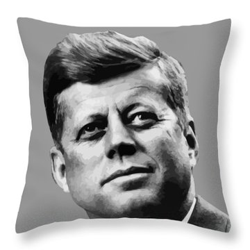 President Kennedy Throw Pillow