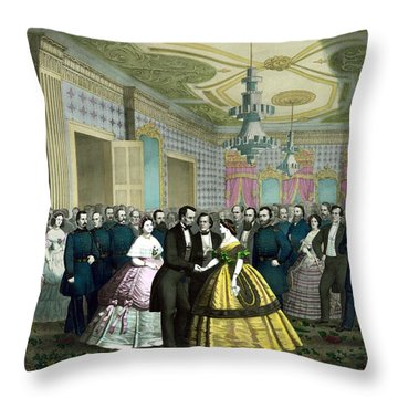 President Lincoln's Last Reception Throw Pillow