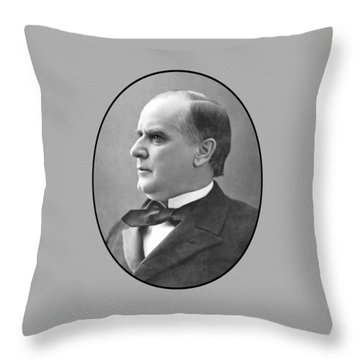 President Mckinley Throw Pillow by War Is Hell Store