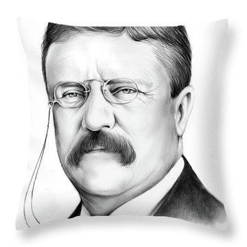 President Theodore Roosevelt 2 Throw Pillow