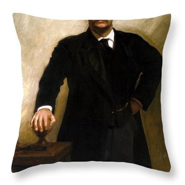 President Theodore Roosevelt Painting Throw Pillow