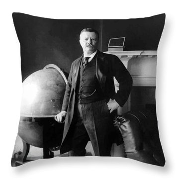 President Theodore Roosevelt Throw Pillow by War Is Hell Store