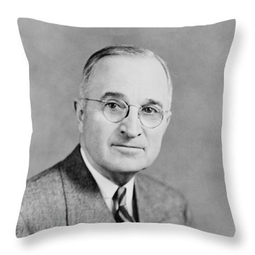 President Truman Throw Pillow by War Is Hell Store